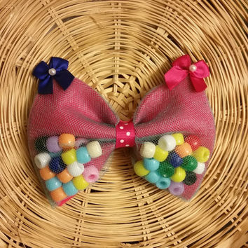 Colorful Bead Filled Bow