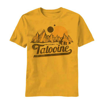 Star Wars Men's  New Tatooine T-shirt Yellow