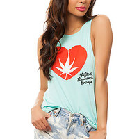 The Budding Love Muscle Tank in Mint
