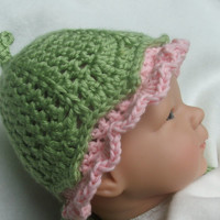CROCHET Baby HAT Pattern  - Photo Prop pattern for Baby Hat Instant Download -  Darling Little Flower Bud