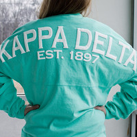 Kappa Delta Sorority Spirit Football Jersey (Large)