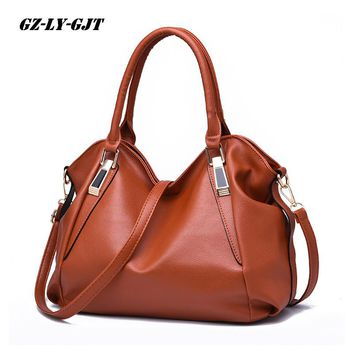 GZ-LY-GJT 9 Color Fashion Designer Women Handbag Female PU Leather Bag Office Ladies Portable Shoulder Bag Ladies Hobos BagTotes