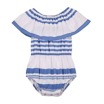 Newborn Baby Girl Patchwork Floral Romper Off Shoulder Jumpsuit Outfits Clothes