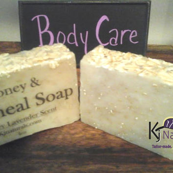 Honey & Oatmeal Soap for dry, itchy skin. For kids and adults.