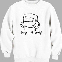 Pugs Not Drugs Cute Sweater for Mens Sweater and Womens Sweater *
