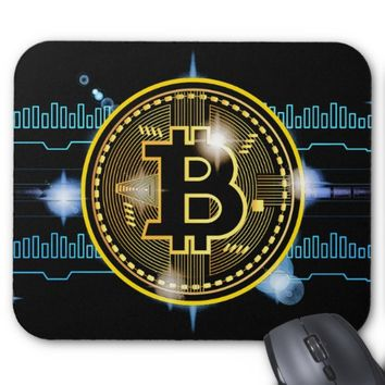 Bitcoin crypto currency graph Design Mouse Pad