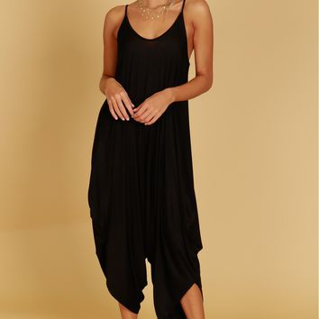 Slouch Jumpsuit Black