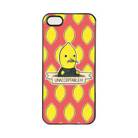 Adventure Time UNACCEPTABLE Funny Lemongrab Cell Phones Cover Cases for iPhone 4/4s/5/5s/5c/6/6s/6plus/6s plus TVS