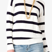 Striped Pointelle Sweater