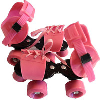 New Quad Roller Skates for Beginner Skating Playing Training Shoes Adjustable Size Double Lines Skates