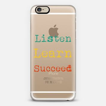 Listen Learn Succeed - Back to school iPhone 6 case by Yasmina Baggili | Casetify