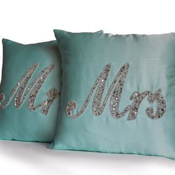 Mr And Mrs Sign Mr Mrs Pillow Wedding Gift Wife Husband Bride Gift For A Couple Groom Gift From Bride