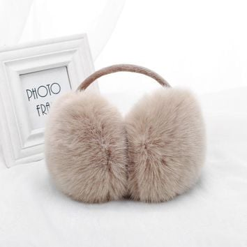 New Women Earmuffs For Brand Winter Earmuffs Lovers Ear Warmer Plush Comfortable Warm Ear Cover Ear Warmers For Girls E002-khaki