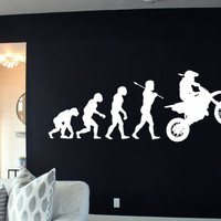 Motorcycle Bike Evolution Sport Motocross Chopper Crotch Rocket Street Bike Wall Art Wall Decals Wall Stickers tr164