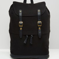 ASOS Backpack With Faux Leather Trims
