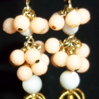 'Carousel' - Coral & Mother-of-Pearl Earrings