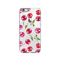 Cherry Pattern Transparent Silicone Plastic Phone Case for iphone 7 _ LOKIshop (iphone 7)
