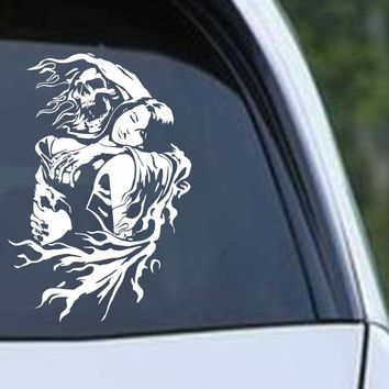 Grim Reaper Skull Girl Die Cut Vinyl Decal Sticker