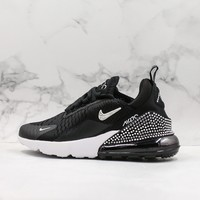 Nike Air Max 270 Black With Diamond Running Shoes - Best Online Sale
