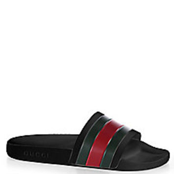 Gucci - Pursuit 72 Slide Sandals - Saks Fifth Avenue Mobile