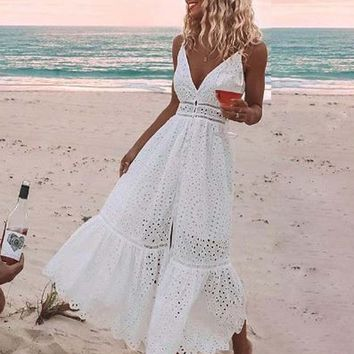 Harlee Eyelet Maxi Dress