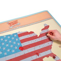 The United States of America Scratch Map US Travel Scratch Map (Size: 84cm by 59cm, Color: Multicolor)