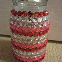 Rhinestone Valentine's Themed Jar