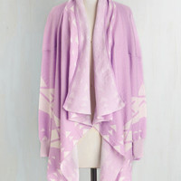 Boho Long Long Sleeve Won't Know 'Til You Tri Cardigan in Lavender by ModCloth