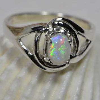 Opal Ring Handmade Opal Ring Sterling Silver Ring Opal Jewelry Handmade Jewelry