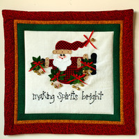 Santa Applique Wall Quilt