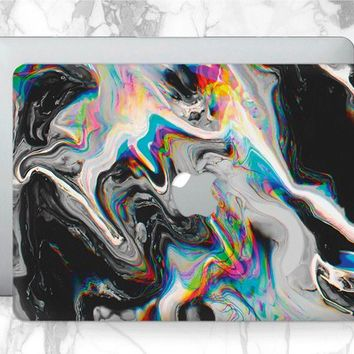 Glitch art MacBook 12 hard case MacBook 11 inch MacBook Air 13 abstract watercolor a1286 MacBook Pro 15 2017 Mac Book Cover a1278 case a1707
