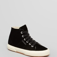 Superga x The Man Repeller Lace Up High Top Sneakers 2095 Velvet