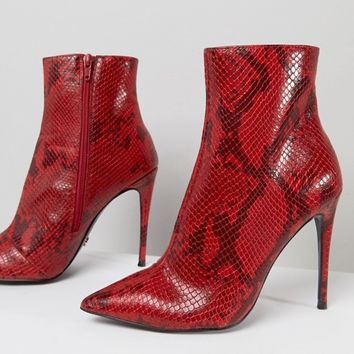 KG By Kurt Geiger Ride Snake Print Ankle Boots at asos.com