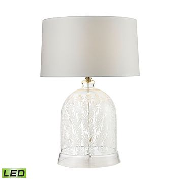 D2728-LED Landscape Painted Bell Glass LED Table Lamp in Clear and White - Free Shipping!