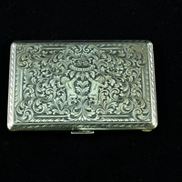 Antique Hand Chased Silver Cigarette Case