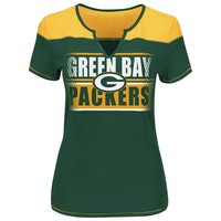 Majestic Green Bay Packers Football Miracle Fashion Top - Women's, Size: