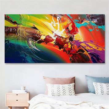 120X60cm Unframed Graffiti Colorful Canvas Print Painting Wall Art Abstract Pictures Home Room Decoration