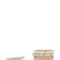 FOREVER 21 Mix & Match Midi Ring Set Gold/Silver