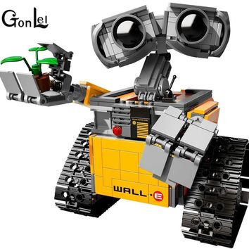 2016 New GonLeI 39023 687Pcs Idea Robot WALLE Model Building Kits Blocks Bricks Children Toys compatible 16003 Kids toys Christ