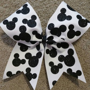 Disney Cheer Bow, Disney, Disney Bow, Summit or Worlds, Mickey Bow