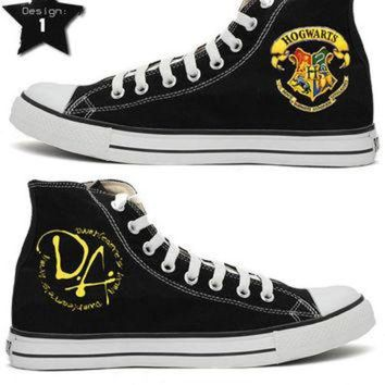 LMFUG7 Harry Potter Handpainted Converse Shoes.