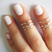 Silver Ring  Stacking rings Knuckle Ring Thin by HLcollection
