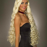 Costume Wigs  Long Curly Blonde Halloween Wig