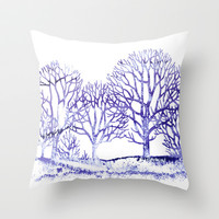 Winter Forest Throw Pillow by Color and Form