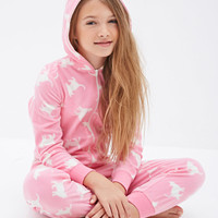 Hooded Kitten Print Onesuit (Kids)