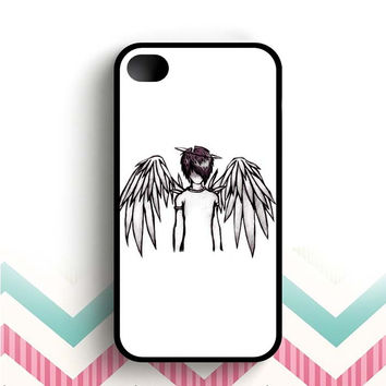 emo angel by lovehurts  iPhone 4 and 4s case