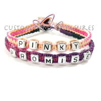 Pinky Promise Couples Bracelets Personalized Jewelry