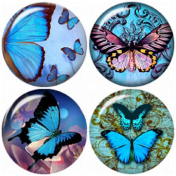 "Butterfly snap button charms ""20mm 4 Pack"" interchangeable with Noosa & Ginger snap jewelry"