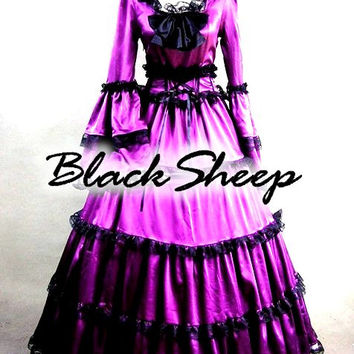 Gothic Victorian Steampunk Custom Made Gown Bridal