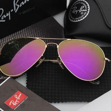 Ray-Ban Aviator Matte Gold Pink Mirrored RB3025 112/4T
